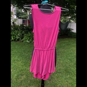 UO Silence + Noise magenta romper/jumpsuit